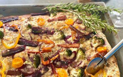 Vollkornpizza + buntes Gemüse